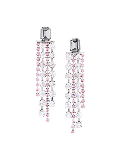 G.V.G.V. women earrings grey metallic jewels