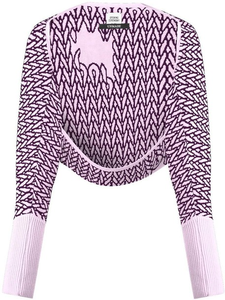 opening ceremony cardigan cardigan women purple pink sweater