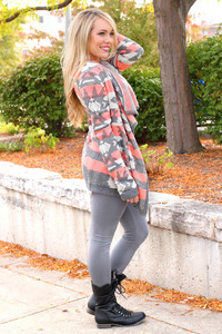 tribal pattern cardigan fall outfits knitwear coral fall outfits