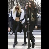top,lovesadores,kendall jenner,kendall and kylie jenner,paris fashion week 2016,gigi hadid,crop tops,fashion week,celebrity style