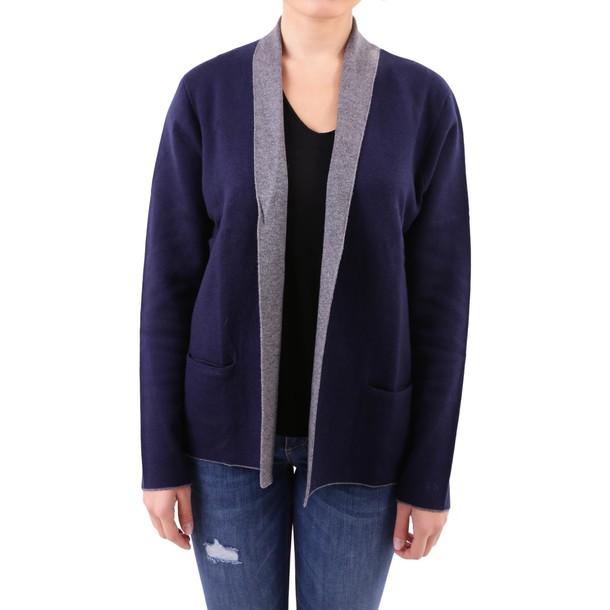 Sun 68 jacket cotton wool knit blue grey