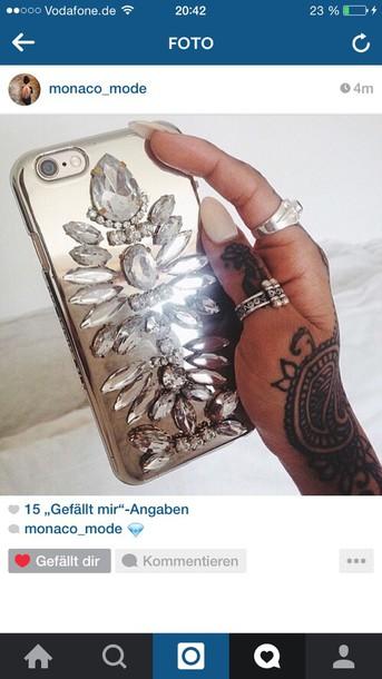 earphones cute purse/iphone case iphone 6 case gold sequins