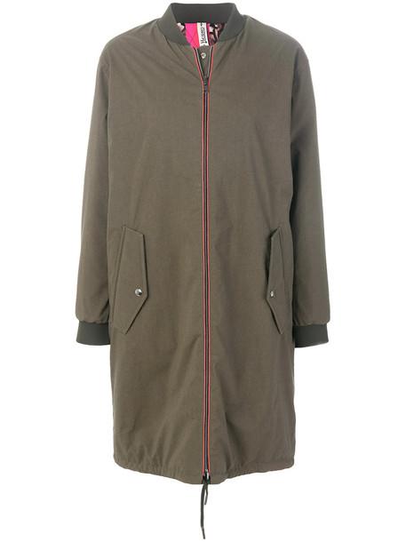 Herno coat long women green