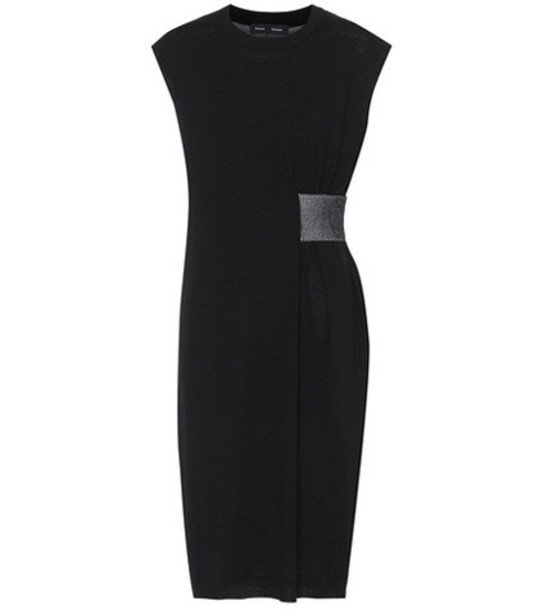 Proenza Schouler dress silk dress silk wool black