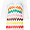 Missoni - zig-zag print sheer dress - women - viscose - 38, white, viscose