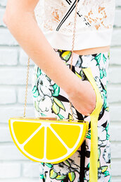 bag,novelty,yellow,clutch,food inspired accessories