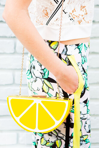 bag novelty yellow clutch