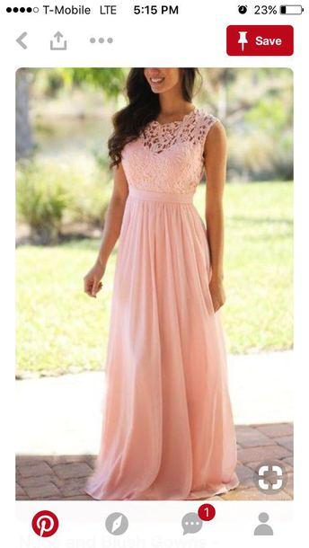 dress pink bridesmaid lace dress