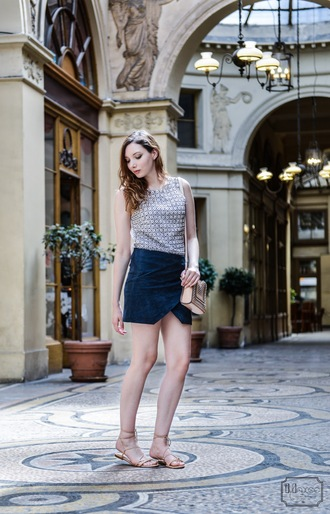 maxce blogger top mini skirt