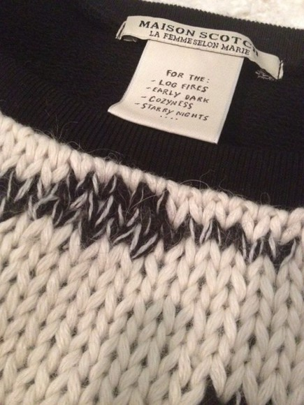 sweater maison scotch tag