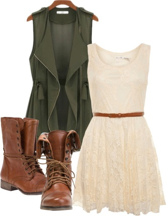 dress jacket boots lace shoes lace dress combat boots off-white dress festival outfit green