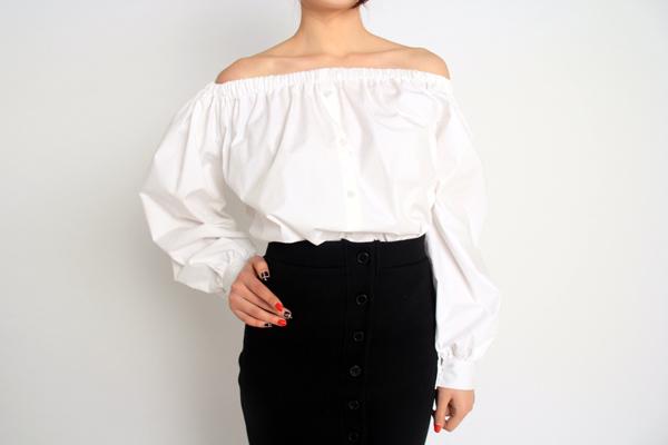Strapless shirt