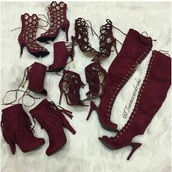 shoes,burgundy,burgundy shoes,heels,high heels