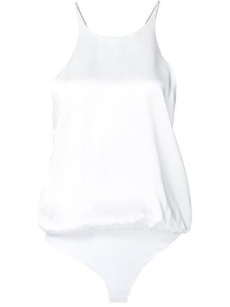 bodysuit sleeveless white underwear