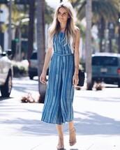 jumpsuit,tumblr,blue jumpsuit,cropped jumpsuit,stripes,striped jumpsuit,sandals,sandal heels,high heel sandals,spring outfits