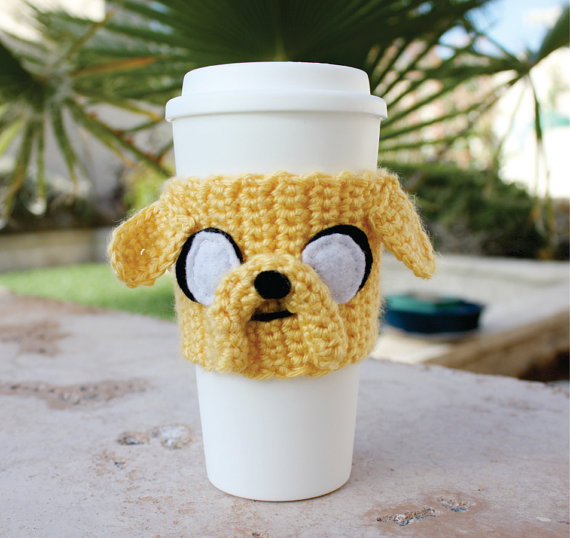 Jake the Dog Inspired Coffee Travel Cup Cozy by littlepopos