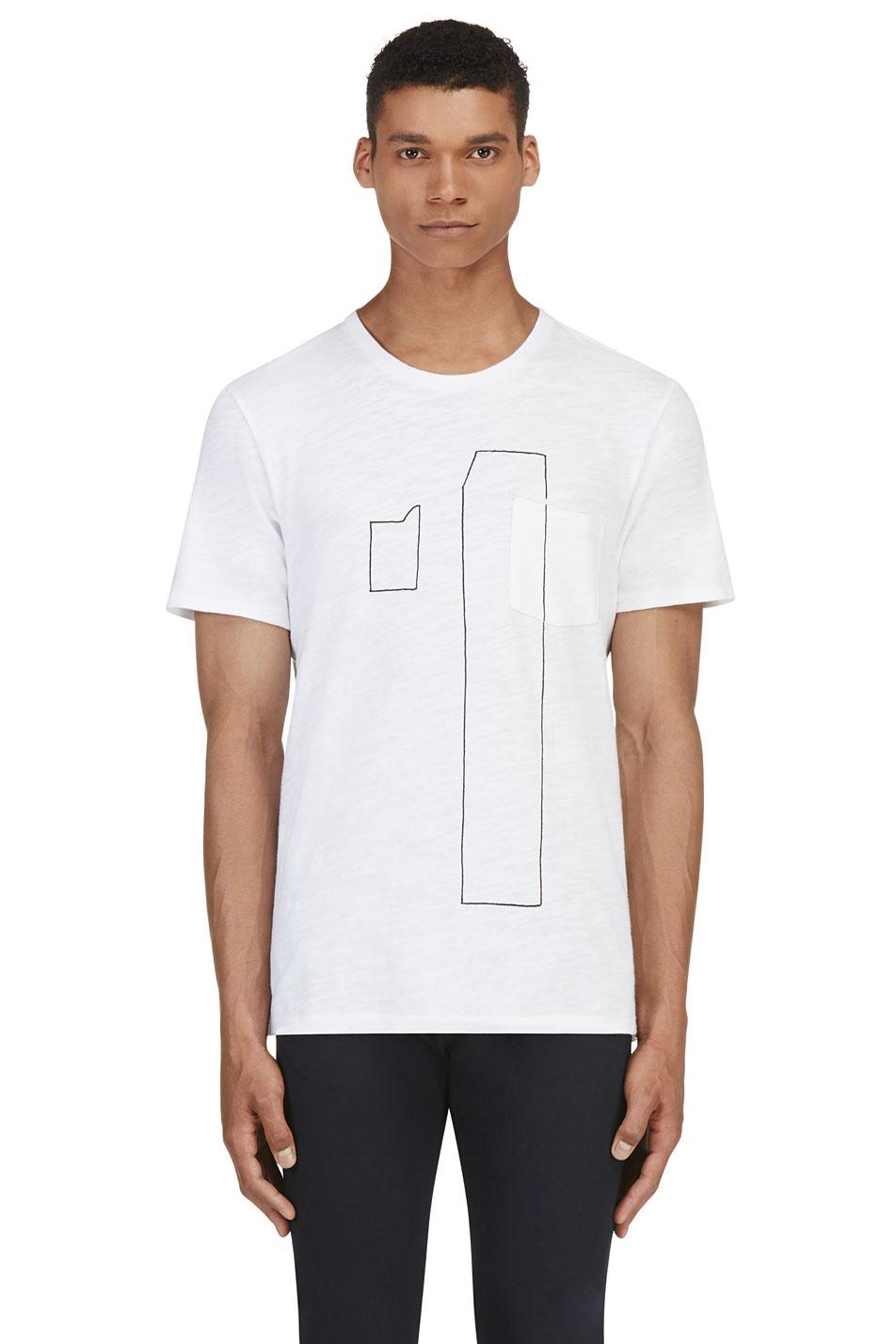 Rag and bone white number t shirt for Rag and bone white t shirt