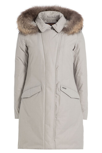 parka fur grey coat