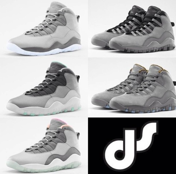 shoes grey white ds
