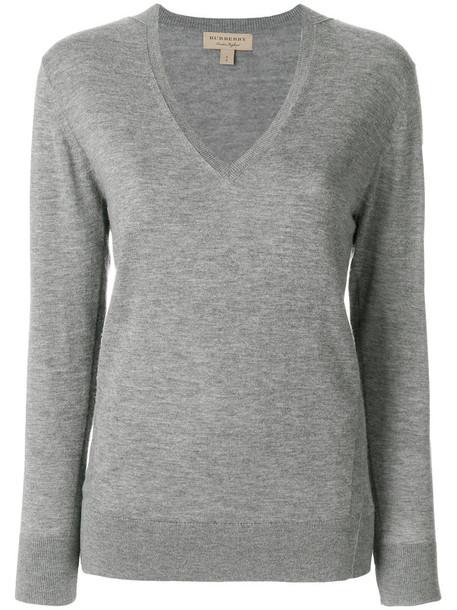 Burberry jumper women grey sweater