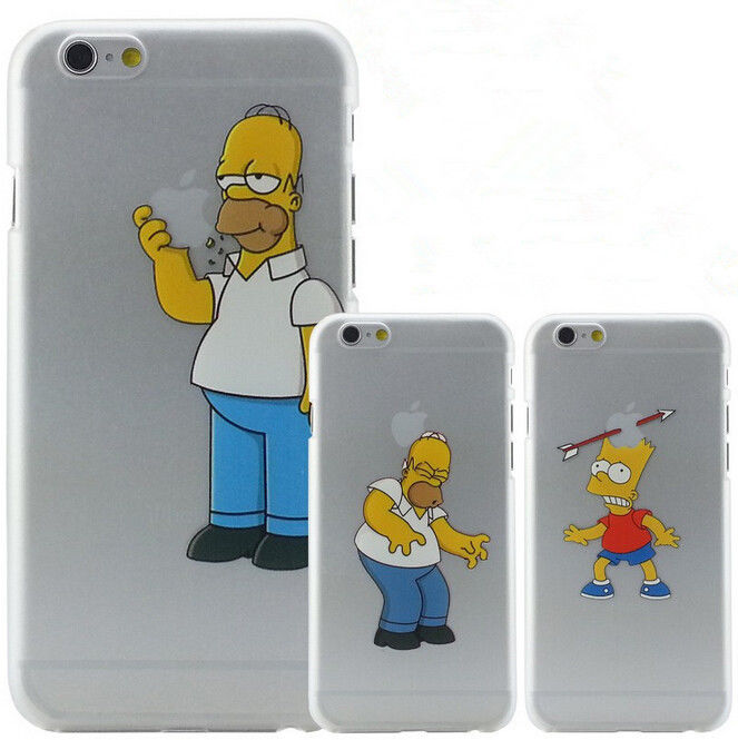 timeless design 6964d 98a19 New Transparent Homer Bart simpson iPhone Case The Simpsons iPhone 6 4.7  iPhone6