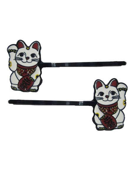 hair clips hair accessories hair clip lucky cat
