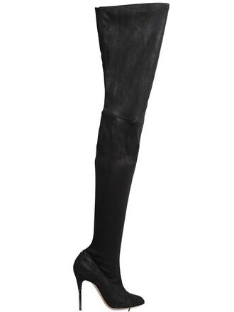 vintage boots suede boots suede black shoes