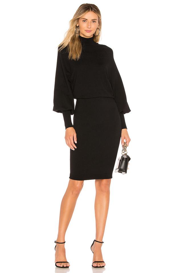 L'Academie The Jen Sweater Dress in black