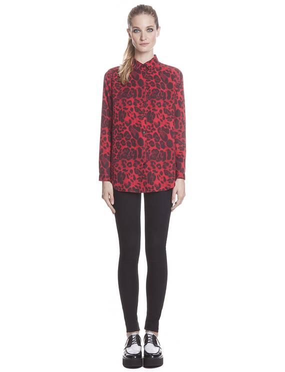 Chemise Cougar Rouge - Chemises Sandro - E-Boutique Officielle SANDRO / Collection Printemps-Été 2013 SANDRO