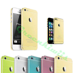 For iPhone 5 5S Sticker Brushed Metallic Decal Full Body Sticker Colorful Skin | eBay