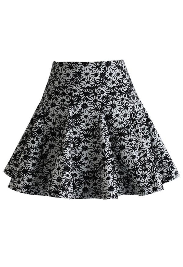 skirt chicwish daisy patch mini skater dress