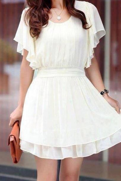 750e6d543c dress white summer dress white dress ruffle sleeves