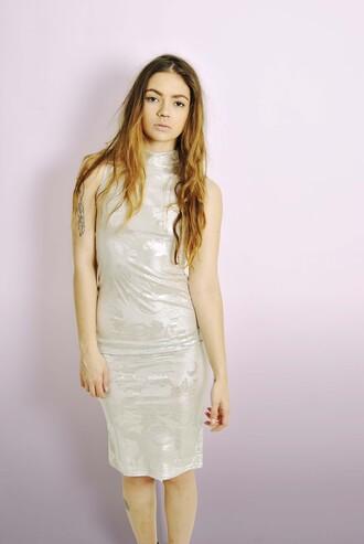 dress classy bodycon dress midi dress shine dress party outfits party dress silver dress