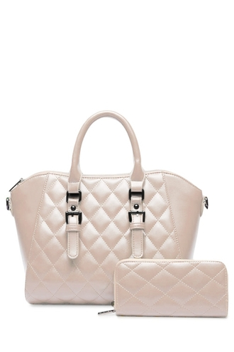 bag purse tote bag cream white wallet buckle