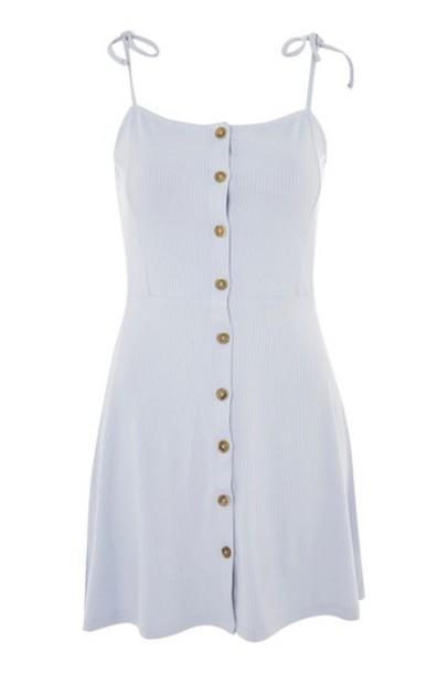 Topshop dress mini dress mini blue