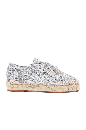 glitter metallic silver shoes