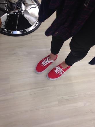 shoes vans vans sneakers red