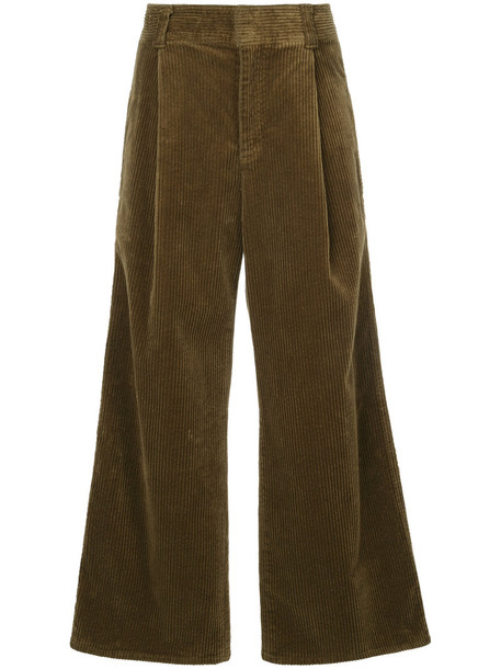 Estnation women cotton brown pants