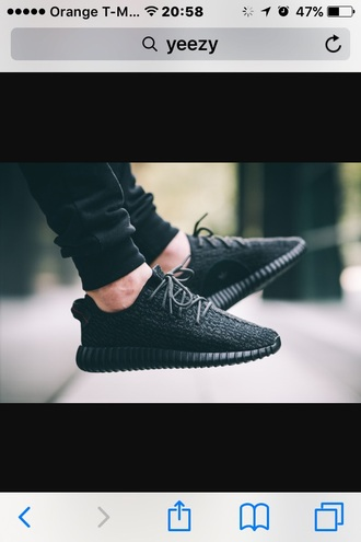 shoes black yeezy's kanye west