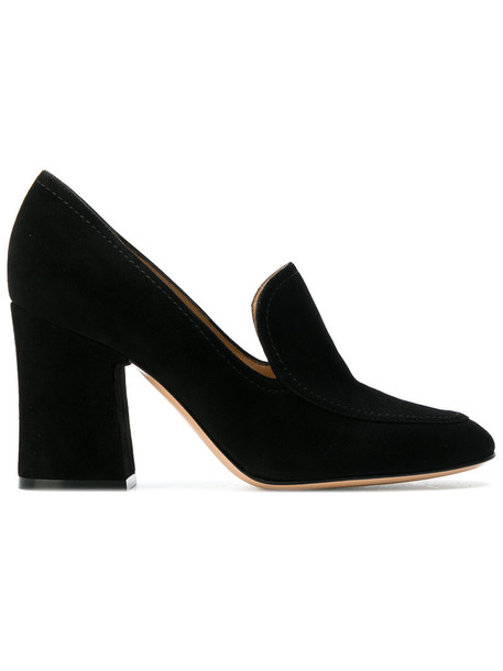 Gianvito Rossi women pumps leather suede black shoes