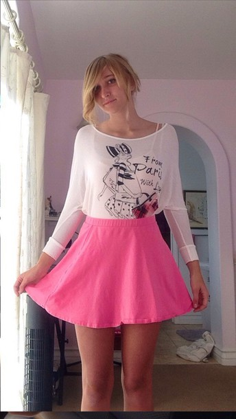 skirt pink bubbe pink top