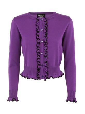 cardigan purple sweater