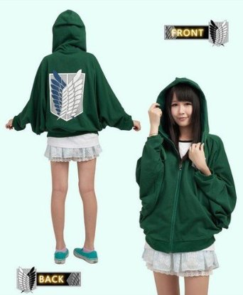 Attack On Titan Sexy Ladies Survey Corps Eren Weiche Coat Cosplay Hoodie Costume,Free Size: Amazon.de: Bekleidung
