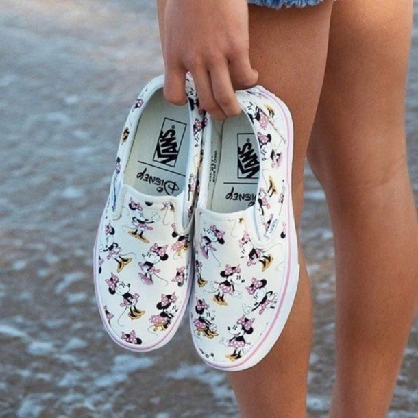 2f041ab5b9a80d shoes minnie mouse disney vans white sneakers printed vans