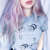 t-shirt,make-up,jewels,shirt,yazz,adorbs,so cut,sushi,kawaii grunge,kawaii,grunge,grey,cute,girly,women,asian,japanese fashion,grey t-shirt,graphic crop tops,tee shirt femme