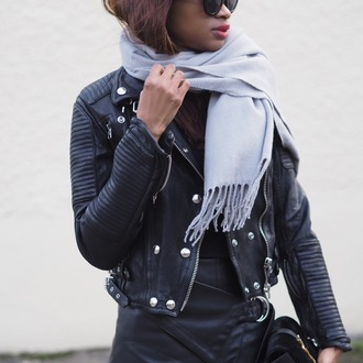 symphony of silk blogger scarf jacket bag black girls killin it