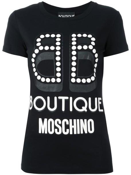 BOUTIQUE MOSCHINO t-shirt shirt t-shirt women cotton print black top