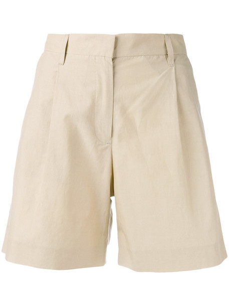 Masscob pleat detail bermudas - Nude & Neutrals