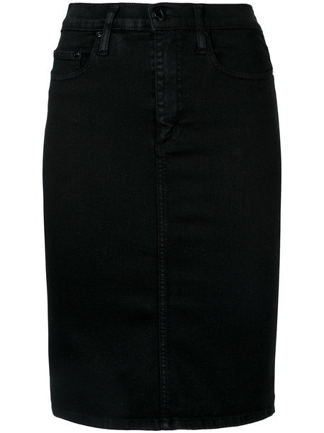 Nobody Denim skirt pencil skirt women spandex cotton black