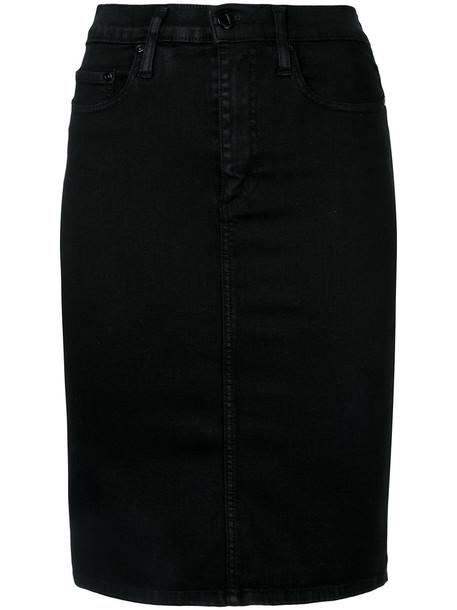 skirt pencil skirt women spandex cotton black